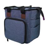 Blá kassótt taska 26x23x14 cm